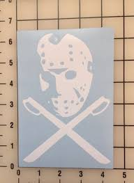 Keen Jason Voorhees Mask Friday The 13th Vinyl Decal Sticker Walls Cars Trucks V For Sale Online Ebay