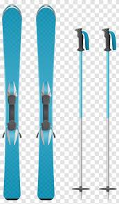 Skiing Ski Pole Cross Extreme Blue Skis Clipart Image Transparent Png
