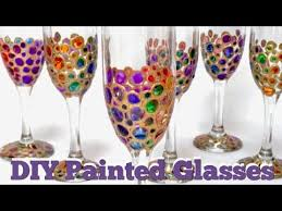 how to paint wine glasses painting
