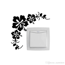 Beautiful Flowers Vinyl Decal Switch Wall Stickers Modern Home Accessories Home Decal Children Room Stickers For The Wall Stickers For Wall From Joystickers 1 22 Dhgate Com