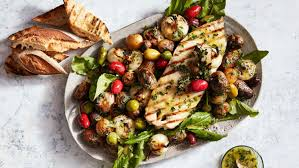 Grilled Halibut Steaks with Potatoes ...
