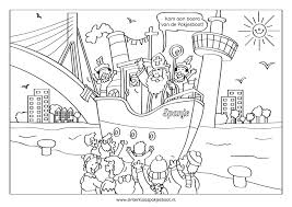 Kleurplaten Sinterklaas Pakjesboot 12 In Rotterdam