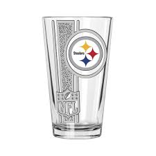 Shop Pittsburgh Steelers 16oz Etched Decal Pint Glass Overstock 21868380