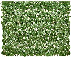 Amazon Com Sunnyroyal Artificial Leaf Faux Ivy Expandable Stretchable Outdoor Privacy Fence Screen For Balcony Patio Decoration Fencing Panel Single Sided Leaves Laurel 1 Piece Garden Outdoor
