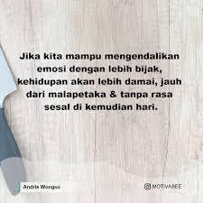 andrie wongso jika kita mampu mengendalikan emosi dengan lebih