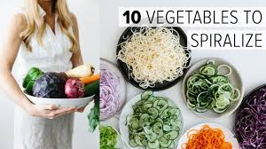 vegetables to spiralize