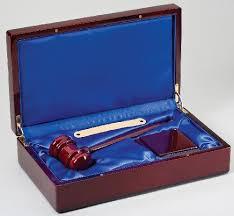 gavel in wood box boss gift awards