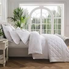 dorma fern white duvet cover white