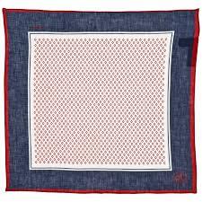 blue red pocket square handkerchief