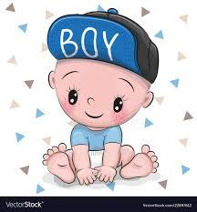 cute cartoon baby boy in a cap royalty
