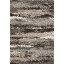 contemporary 5x8 area rug in charcoal