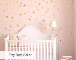 Gold Vinyl Wall Decal Sticker Wall Art Stars Gold Star Decal Set For Baby Nursery Wall Gold Confet Gold Vinyl Wall Baby Nursery Wall Decor Star Wall Decals