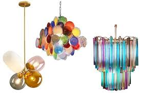 colorful chandeliers fun accents or