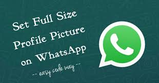 full size photo on whatsapp profile picture
