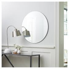 round frameless decorative wall mirror