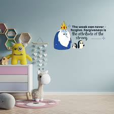 Design With Vinyl Forgive Ice King Adventure Time Cartoon Quotes Decors Wall Sticker Art Design Decal Girls Boys Kids Room Home Decor Wall Art Vinyl 12x20 Inch Wayfair