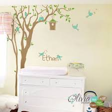 Personalized Nursery Tree Decal Baby Custom Name Wall Decor Etsy In 2020 Wall Vinyl Decor Personalized Nursery Name Wall Decor