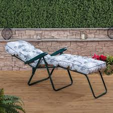 sun lounger green frame with classic