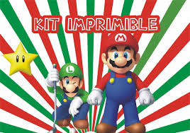 Super Mario Bros Kit Personalizado E Imprimible 380 00 En