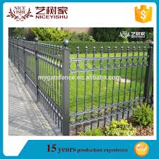 Wrought Iron Fence Panels Metal Fence Toppers Decorative Garden Fence View Wrought Iron Fence Panels Yishujia Product Details From Shijiazhuang Yishu Metal Products Co Ltd On Alibaba Com