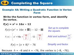 objectives solve quadratic equations by