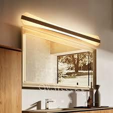 modern led mirror front light bathroom