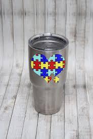 Autism Awareness Yeti Tumbler Decal Living Life Rosie