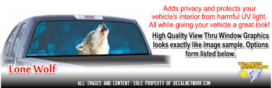 Rear Window Graphic View Thru Window Film See Through One Way Vision Decal
