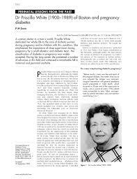 PDF) Dr Priscilla White (1900-1989) of Boston and pregnancy diabetes