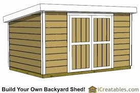 8x12 8 foot tall lean to shed plans