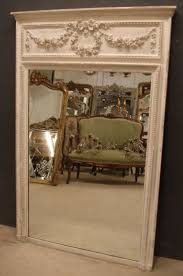 large antique french trumeau mirror