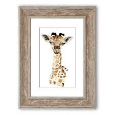 giraffe beauty framed graphic art