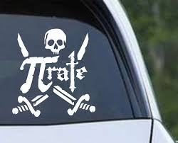 Pirate Funny Math Die Cut Vinyl Decal Sticker Texas Die Cuts