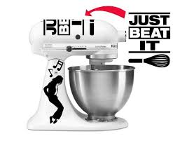 Just Beat It King Of Pop Inspired Vinyl Decal For Kitchenaid Mixers Azvinylworks
