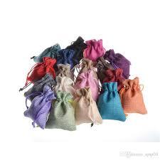 drawstring bags 9x12cm mini jute bags
