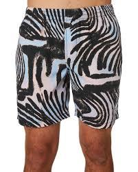 stussy zebra mens beach short pastel