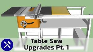 Top 5 Diy Table Saw Upgrades On A Budget Large Rip Capacity Outfeed Casters More Pt 1 Youtube