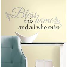 Roommates 10 In X 18 In Bless This Home 25 Piece Peel And Stick Wall Decals Rmk2179scs The Home Depot