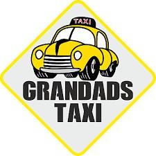 Grandad S Taxi Funny Novelty Car Van Vinyl Sticker Decal Ebay