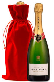 special cuvee with red velvet gift bag