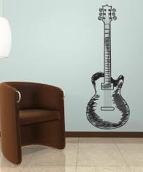 Vinyl Wall Decal Sticker Guitar Doodle 1132 Stickerbrand