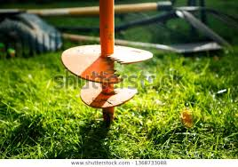Garden Fence Post Hole Auger Earth Stock Photo Edit Now 1368733088