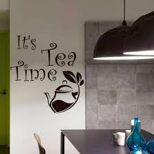 Interior Home Decor Kitchen Vinyl Wall Stickers Qootes Its Tea Time Modern Art Mural Design Removable Adhesive Teapot Decor Wall Decals And Murals Wall Decals And Stickers From Onlinegame 12 21 Dhgate Com