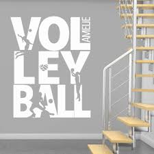 Summer Beach Volleyball Wall Decal Custom Name Sports Girls Room Decor Volleyball Sign Playing Silhouette Vinyl Wall Mural Buy At The Price Of 4 80 In Aliexpress Com Imall Com
