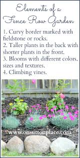 how to plant a fence row garden on