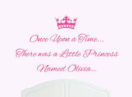 Once Upon A Time Princess Olivia Wall Sticker Decal Bed Room Art Girl Baby Ebay