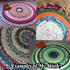 custom bohemian round rag rug any