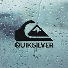 Quiksilver Die Cut Black 5 In X 3 5 In Vinyl Decal Sticker Surfboard Car Window Ebay