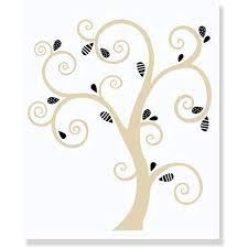 Beige Tree Wall Decal With Black Leaves Wall Stickers Art Walmart Com Walmart Com