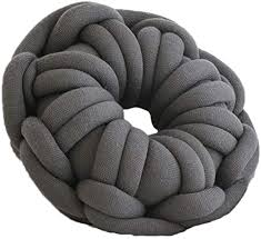 Amazon Com Pogongshi Circle Ring Knot Pillow Lumbar Cushion Handmade Throw Stuffed Car Kids Bedroom Decor Home Kitchen